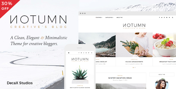 Notumn - Responsive Modern Minimalistic Blog - Blog / Magazine WordPress