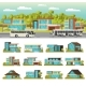 Modern Houses Composition - GraphicRiver Item for Sale