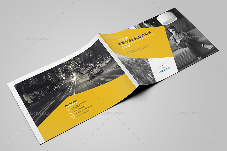 Landscape Brochure Template By Al-Mamun | Graphicriver