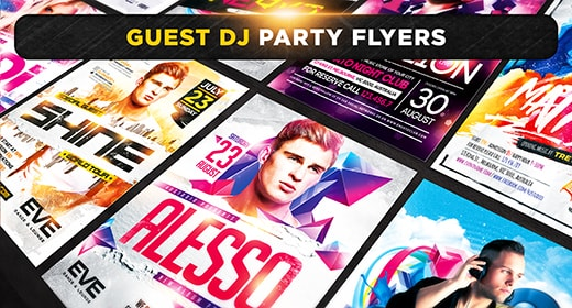 Guest Dj Party Flyers