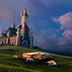 Old Fantastic Castle On The Hill - VideoHive Item for Sale