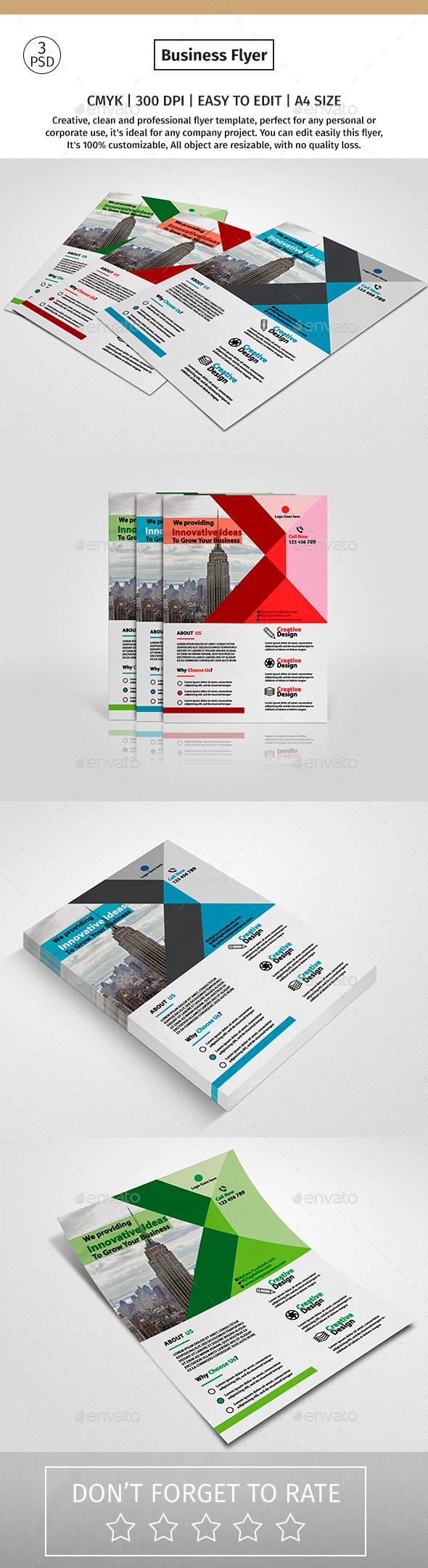A4 Corporate Business Flyer #16 - Corporate Flyers