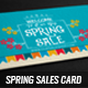 Spring Sales Card 3 - GraphicRiver Item for Sale