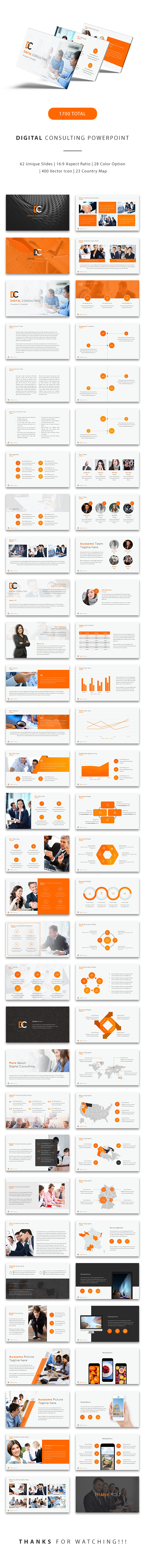 Digital Consulting Powerpoint - Finance PowerPoint Templates