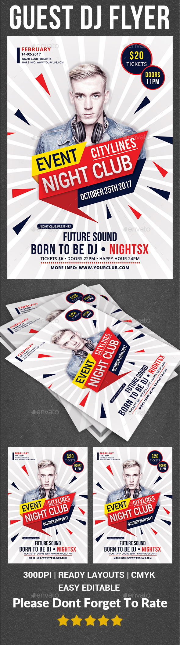 Guest Dj Flyer Print Templates - Clubs & Parties Events