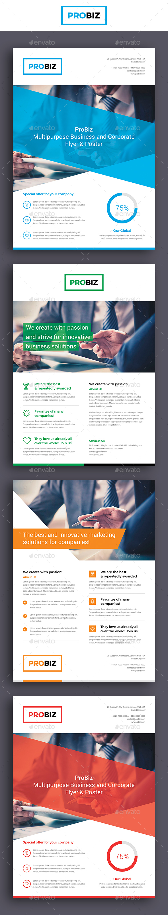 ProBiz – Business and Corporate Flyer - Corporate Flyers