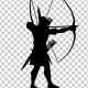 Archer Aiming Silhouette - VideoHive Item for Sale