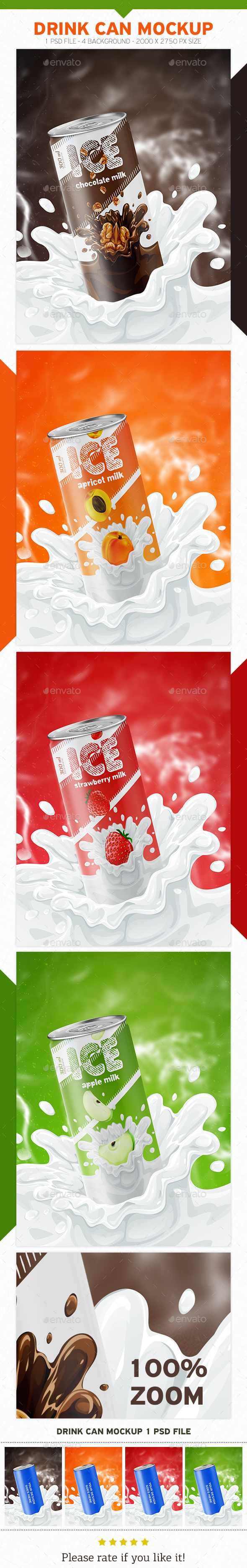 Drink Can Mockup - Food and Drink Packaging