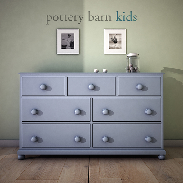 PotteryBarn Catalina Extra-Wide Dresser - 3DOcean Item for Sale