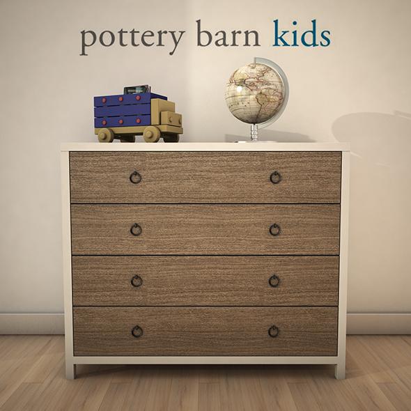 PotteryBarn-JordanDresser - 3DOcean Item for Sale