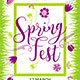 Spring Festival Party Flyer Poster - GraphicRiver Item for Sale