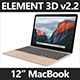 Element 3D 2016 12 Inch Macbook - 3DOcean Item for Sale