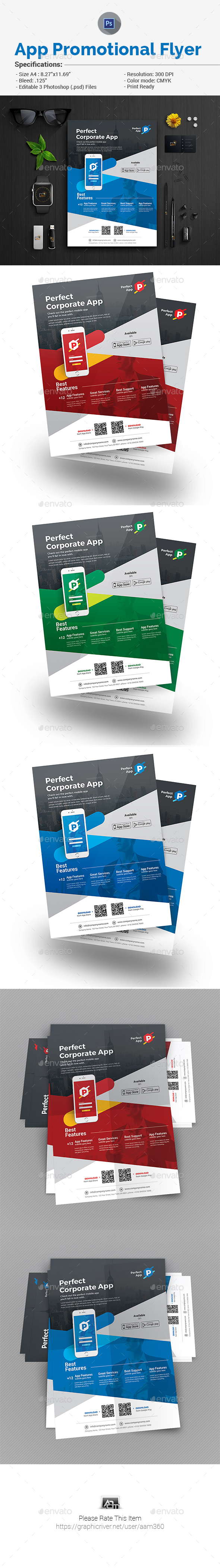 Mobile App Promotion Flyer Templates - Corporate Flyers