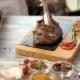 Grilled Ribeye Steak on Board