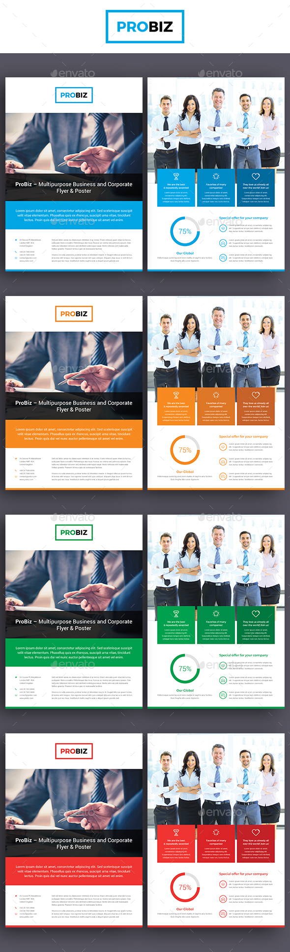 ProBiz – Business and Corporate Flyer Double Sided - Corporate Flyers