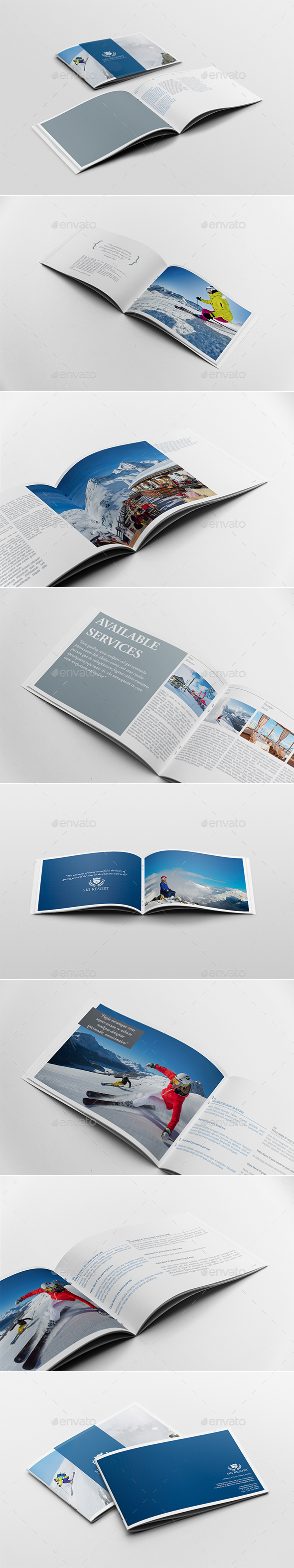 Travel Brochure / Guide Template - Brochures Print Templates