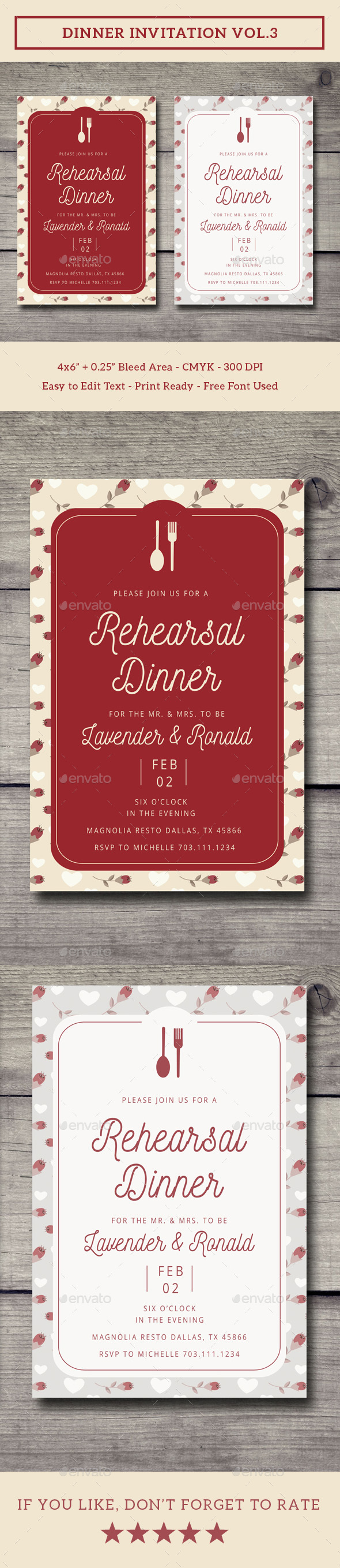 Dinner Invitation Vol.3 - Invitations Cards & Invites