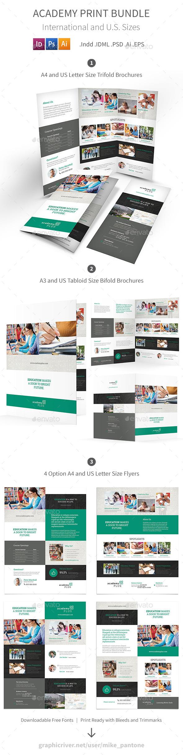 Academy Print Bundle - Informational Brochures