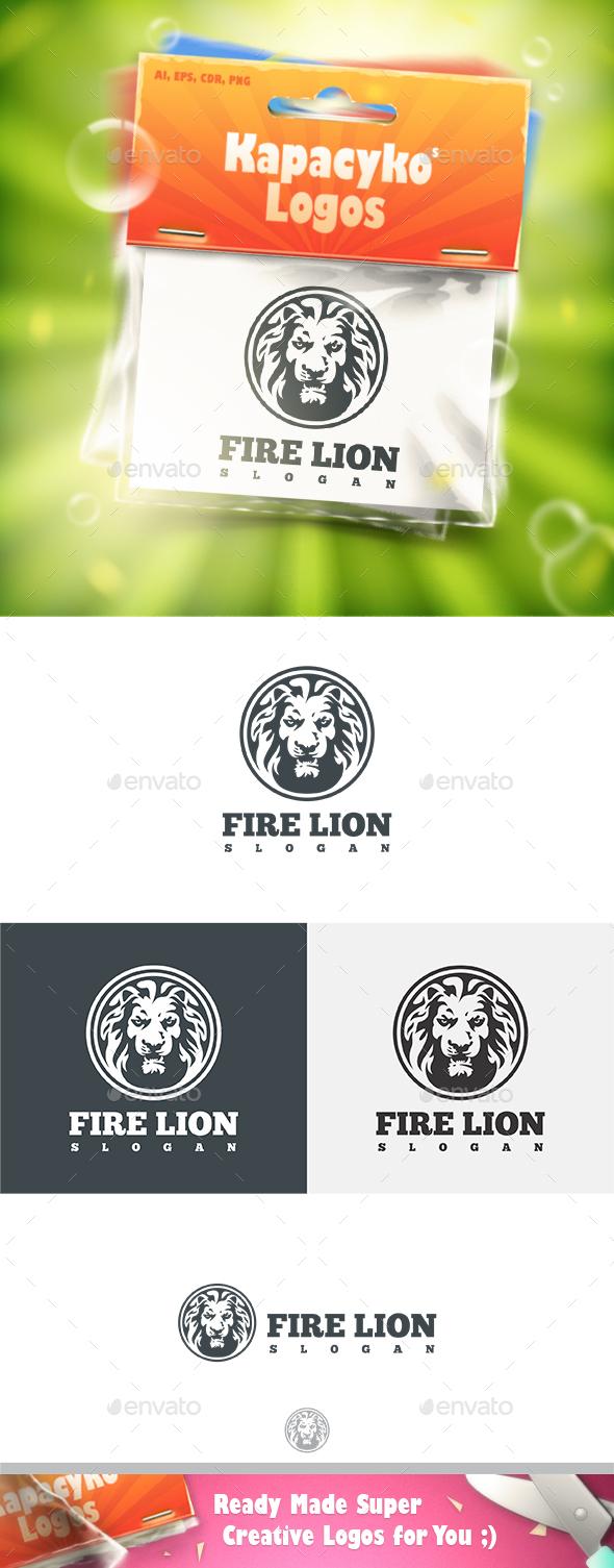 Fire Lion Logo - Animals Logo Templates