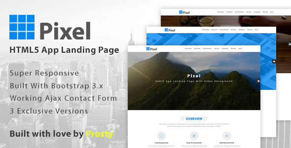 Pixel - App Landing Page - Marketing Corporate
