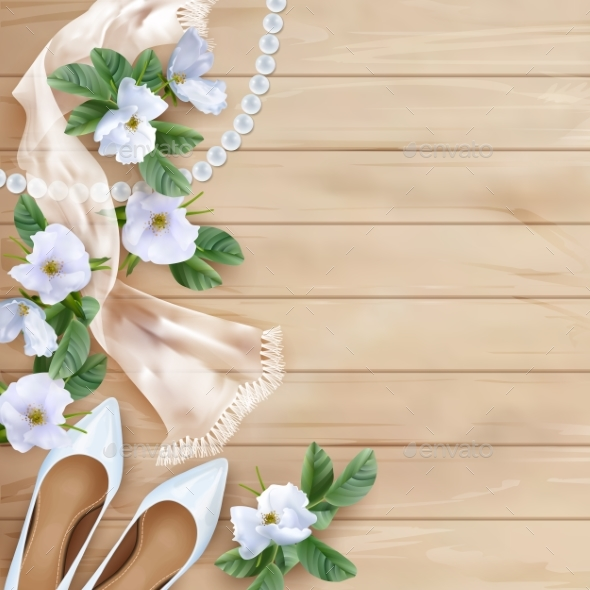 Wedding Flower Background: Wedding Floral Background By Kostins