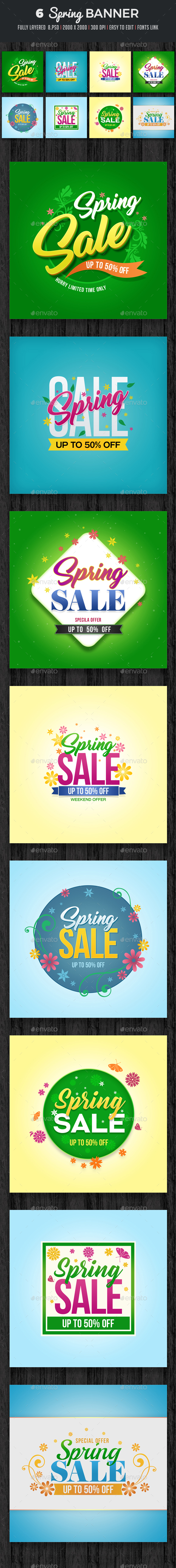Spring Banner Set 2 - Banners & Ads Web Elements