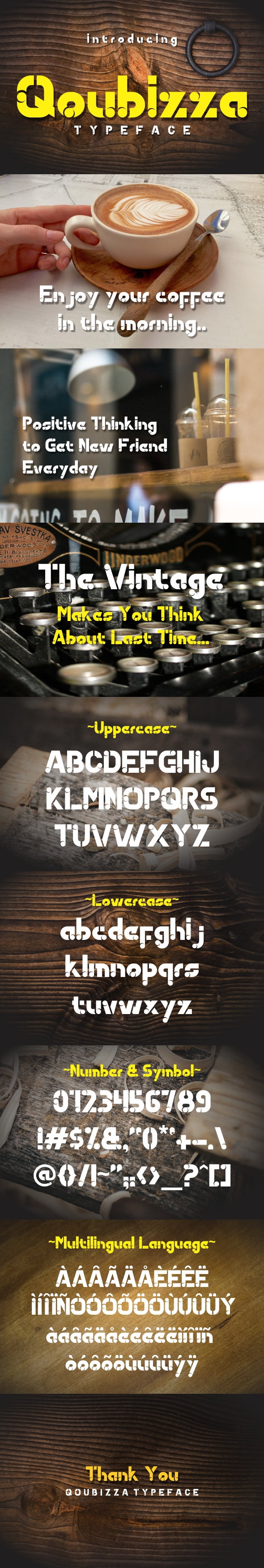 Qoubizza Typeface - Decorative Fonts
