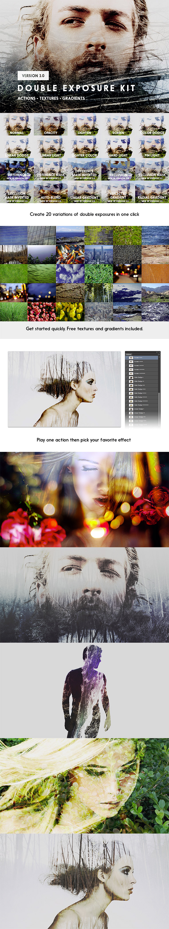 Double Exposure Kit - Actions Photoshop