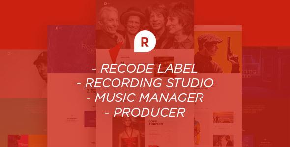 Recording Studio WordPress Theme – Dj / Producer / Music / Soundtrack / Artist / Entertainment
