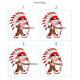 Animation of Native Boy in 4 Frames with Bow and Arrow - GraphicRiver Item for Sale