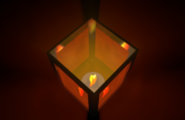 Lantern With Animated Flame