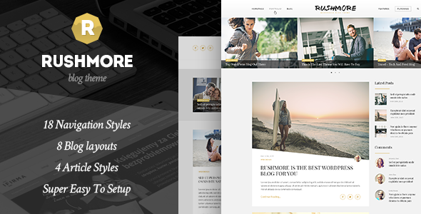 RushMore - A Responsive WordPress Blog Theme - Blog / Magazine WordPress