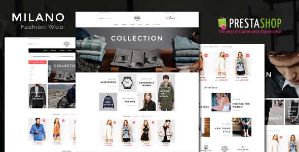 Milano Responsive Prestashop 1.7, 1.6  Theme - Fashion PrestaShop