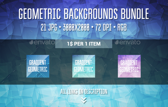 Geometric Backgrounds Bundle - Abstract Backgrounds