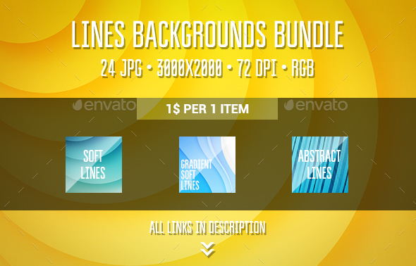 Lines Backgrounds Bundle - Abstract Backgrounds