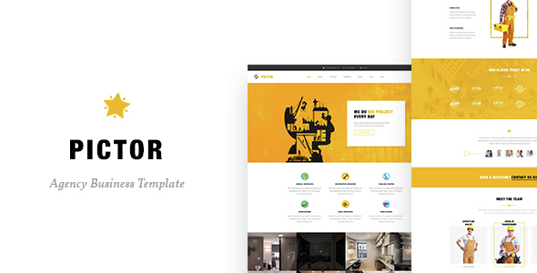 Pictor - Drupal Construction, Building Business template - Corporate Drupal
