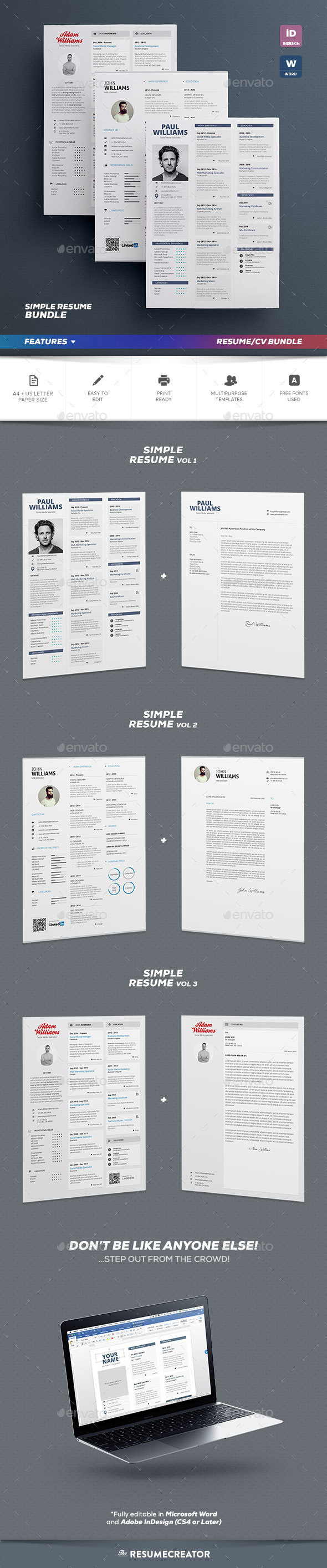 Simple Resume Bundle