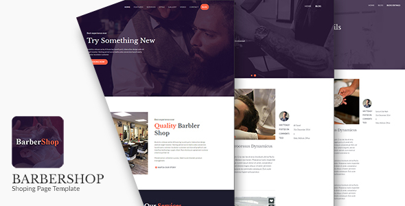 BarberShop - Salon, Spa & Barber Website Template - Health & Beauty Retail