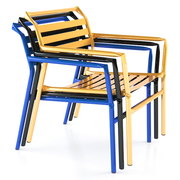Straw Modern Armchair Lounge - 3DOcean Item for Sale