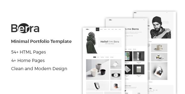 Berra - Minimal Portfolio Template - Portfolio Creative