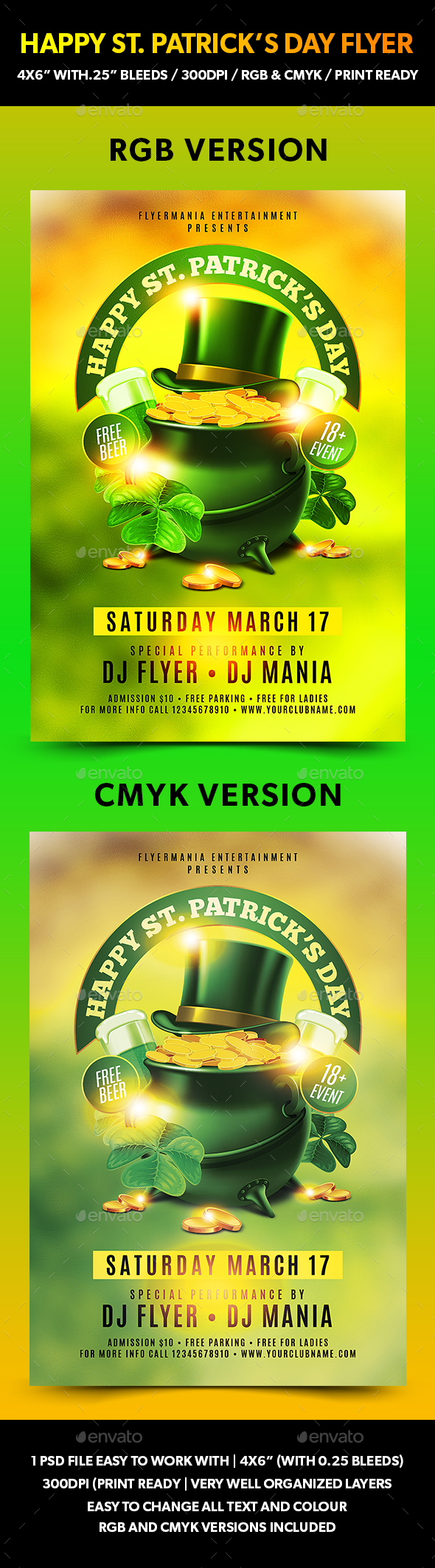 Happy St. Patrick's Day Flyer - Events Flyers