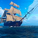Sailing Ship In An Ocean - VideoHive Item for Sale