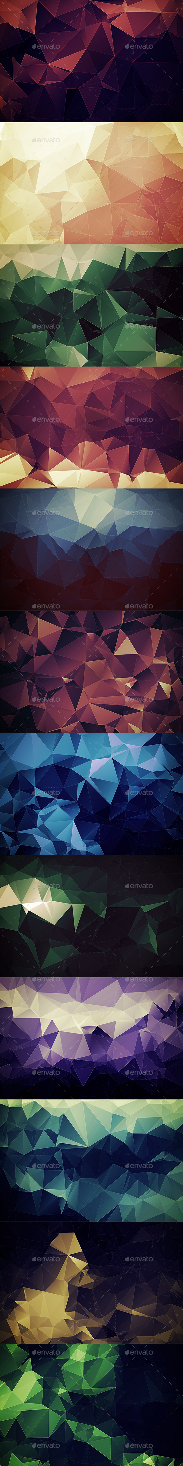 Abstract Polygonal Backgrounds Vol4 - Abstract Backgrounds