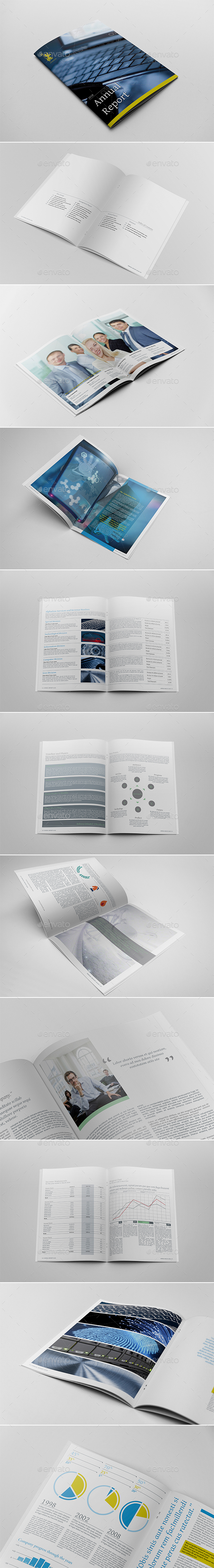 Annual Report Indesign Layout - Corporate Brochures