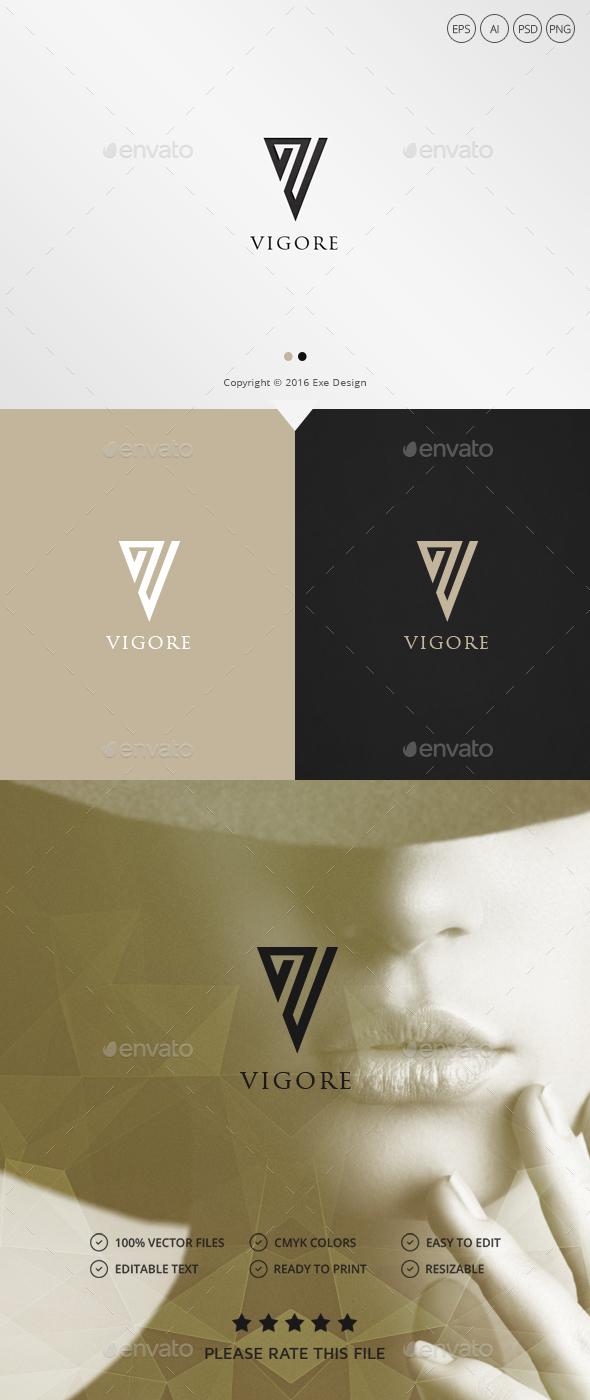 Vigorous Letter V Logo - Letters Logo Templates