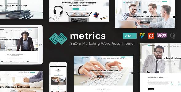 Metrics Business - SEO, Digital Marketing, Social Media Theme