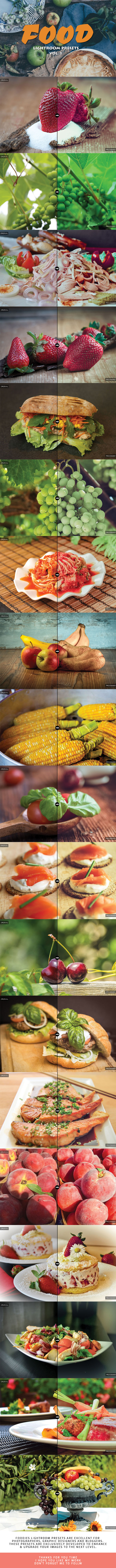 20 Food Lightroom Presets Ver. 1 - Lightroom Presets Add-ons