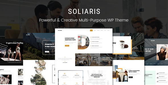 Soliaris - Business Bootstrap WordPress Theme - Business Corporate