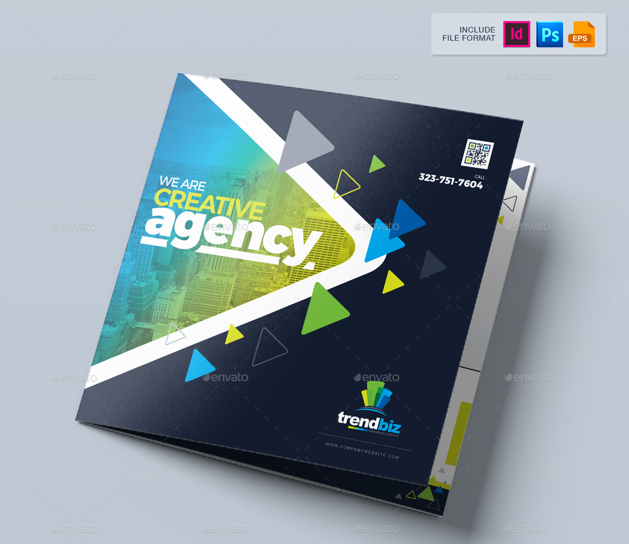 Tri Fold Brochure Template / Square Tri-Fold Brochure Design by ...