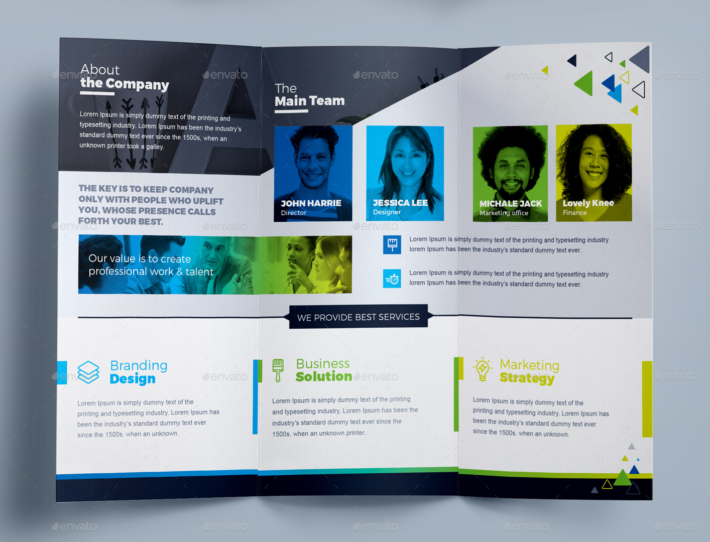 Tri Fold Brochure Template / Square Tri-Fold Brochure Design by ...